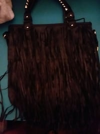 Med size handbag.  Long fringe Red Lion, 17356
