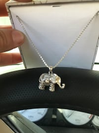 Brand new sterling silver necklace with elephant charm. San Diego, 92173