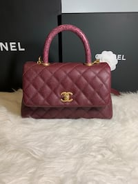 Brand New Chanel Mini Coco Handle Burgundy  Toronto, M1W 3L9