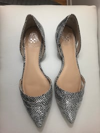 pair of gray snakeskin leather flats Toronto, M4S 2H4