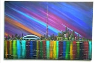 34x24 inches Toronto skyline acrylic painting  Vaughan, L4L 2S6