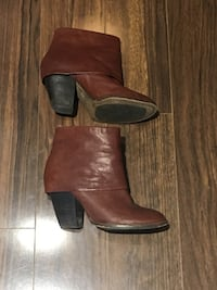 Vince camuto brown leather boots sz 8 Vancouver, V5R 0B2