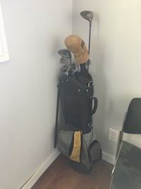 black and gray golf bag with golf club set Winnipeg, R2C 0M1
