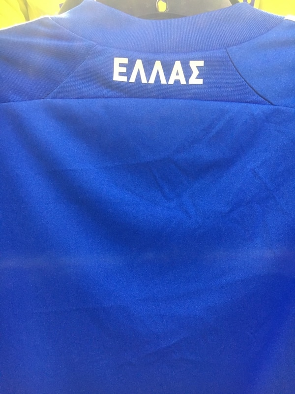 Greek national team Home  jersey by Adidas size small 7d053a55-907b-4403-8b52-cfa2a28f8b2d