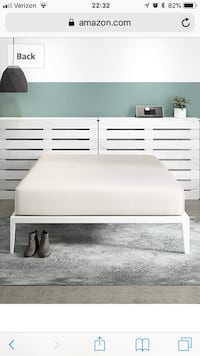Espresso bed frame (ikea), and Signature Sleep Mattress, 12 Inch Memory Foam Mattress Vienna, 22181
