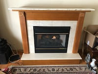 Beautiful Natural Gas Fireplace With Oak & Marble Mantel Green Oaks, 60048