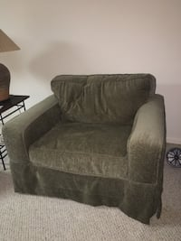 2 dark green fabric sofa chair Burke, 22015