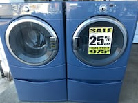 MAYTAG EPIC FRONT LOAD WASHER AND ELECTRIC DRYER WITH PEDESTALS, HIGH EFFICIENCY, ENERGY STAR $975.00, INCLUDES FREE LOCAL DELIVERY  2357 mi