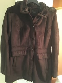 Braetan suede Brown button-up jacket Montréal, H9H 5C3