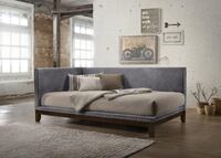Pax Gray Velvet Twin Daybed | 5330  77036