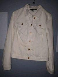 Baccini White Denim Jacket