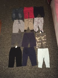 12 pieces of little boys pants  sizes 3/6 months Clyde, 28721