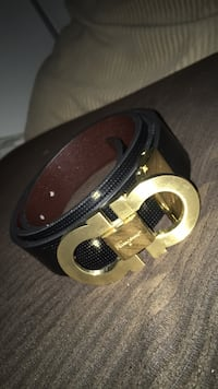 black and brown leather belt Camillus, 13031