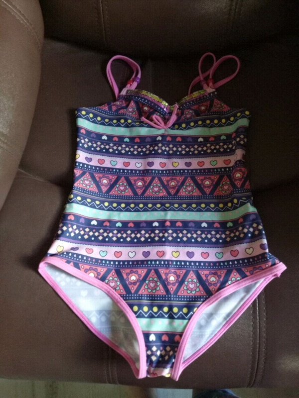 Childrens for 5yrs pink and blue bikini