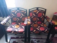 two black metal framed padded armchairs Bengaluru, 560078