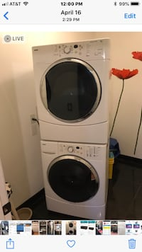 white front-load clothes washer and dryer set Winter Garden, 34787