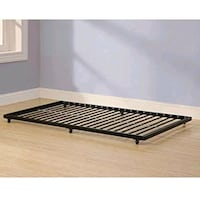 Twin roll-out trundle bed black Woodbridge, 22192