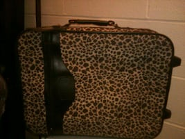 Animal print small pull style suitcase