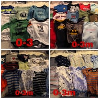130 pc baby boy clothes Triangle, 22172