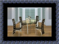 Glass dining table with 4 chairs Greater Landover