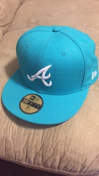 Teal altanta braves embroidered fitted cap Columbia, 29201
