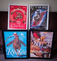 "St. Paul Rodeo Collectible Posters 18''x 24"" (8) Gresham"