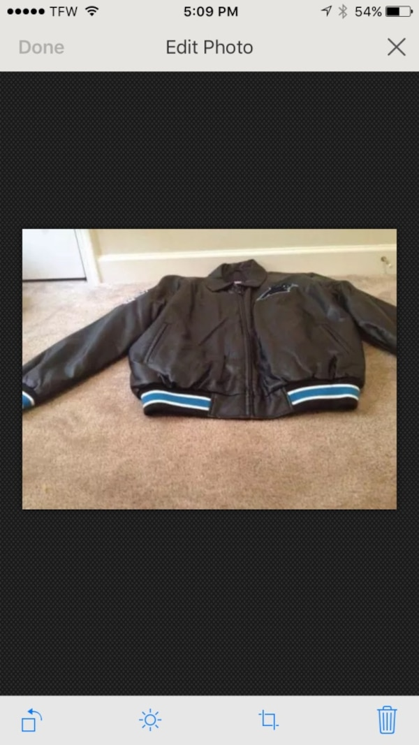 new styles 08d75 114ce Carolina Panthers Faux Leather Coat Men Size New M Color Jacket NFL  Football NEW