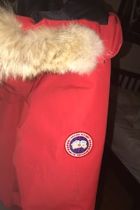Red Canada Goose Jacket (negotiable) Beaconsfield, H9W 5P3