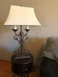 Brown table lamp Cypress, 90630