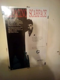 Scarface poster  like new no holes in it Hampton, 23666