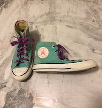 Pair of teal converse all-star high-tops Winnipeg, R3Y