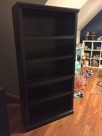 "Java finish bookcase 70"" x 35"" x 12.5"""