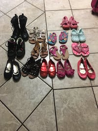 Toddler girls assorted pairs of shoes