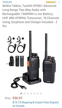 New walkie talkie  Richmond, V6Y 2B6