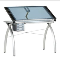 Glass drawing desk