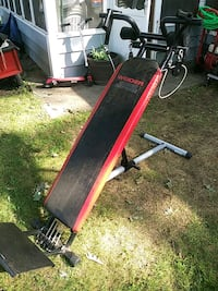 red and black metal bench press Chelmsford, 01863