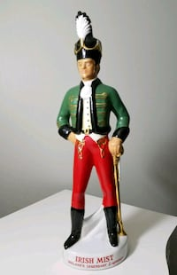 "Vintage Irish Soldier Liqueur Decanter - 19"" Tall"
