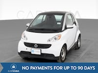 2015 smart fortwo coupe Pure Hatchback Coupe 2D White