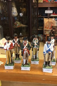 Soldiers/ decanters. $12 each Dover, 17315