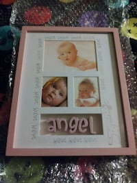white and pink picture frame