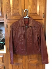 Leather Jacket  Kinda Rust Color Size 8 For young Girl or Teenager