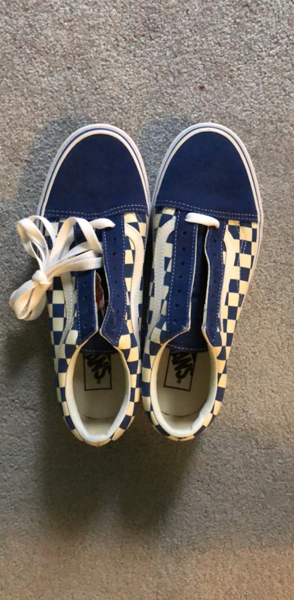 7cd66a99a80d Used Blue Checkered Vans for sale in Downers Grove - letgo