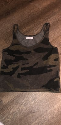 Camouflage stretchy tank top Calgary, T3H 1C6