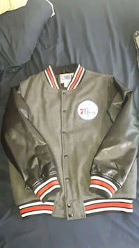 gray and red letterman jacket Brampton, L6T 4S3