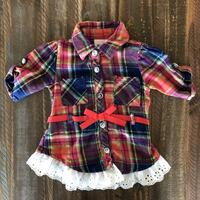 Red Plaid Button Up Top PALMDALE