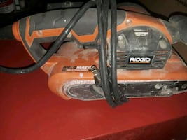 orange and gray Ridgid power tool
