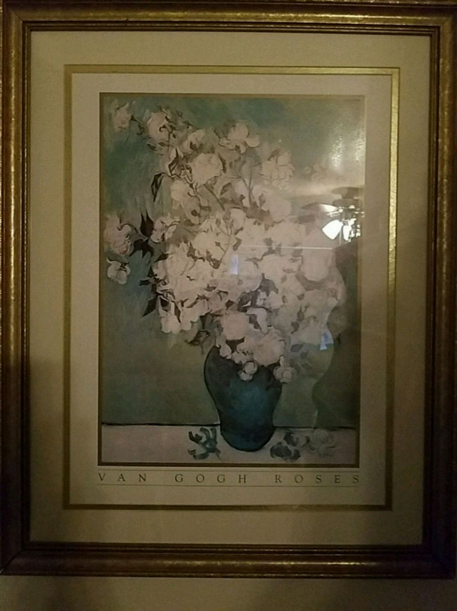 A Vase of White Roses by Vincent van Gogh, used for sale  Salem