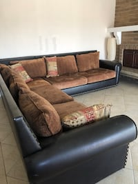 brown and black fabric sectional sofa Poway, 92064