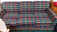 Plaid 3 seat couch sofa Mississauga, L5L 3P5
