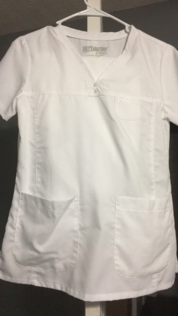 6c9387db482 Used Greys anatomy scrubs Small too and Small petite pants / small Cherokee  lab coat for sale in Mount Pleasant - letgo